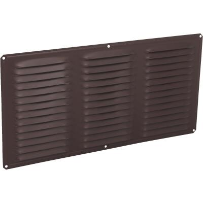 Air Vent 16 In. x 8 In. Brown Aluminum Under Eave Vent