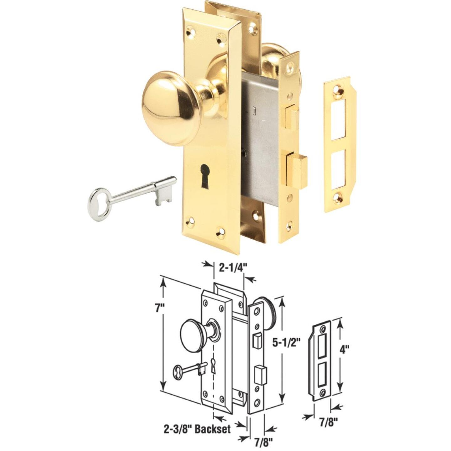 Prime Line Bit Key Mortise Lockset with Knob Image 1