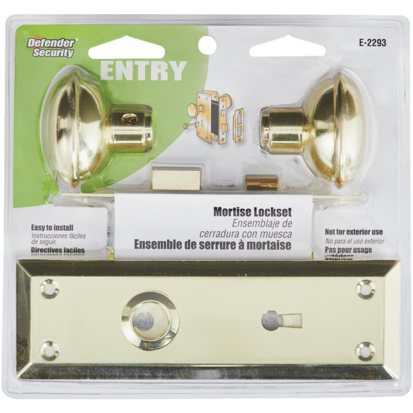 Prime Line Bit Key Mortise Lockset with Knob Image 3