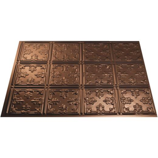 Fasade 18 In. x 24 In. Thermoplastic Backsplash Panel, Oil-Rubbed Bronze Traditional 10