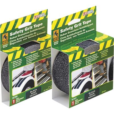 LIFESAFE 2 In.x 15 Ft. Black Anti-Slip Walk Safety Tape