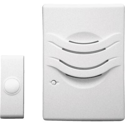 IQ America 2-Tone Battery Operated Wireless White Door Chime