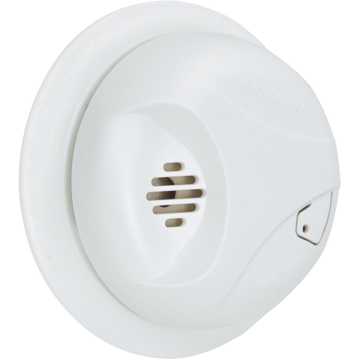 First Alert Battery Operated 9V Ionization Smoke Alarm with Hush Image 1