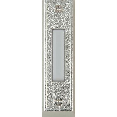 IQ America Wired Silver Plastic Lighted Doorbell Push-Button