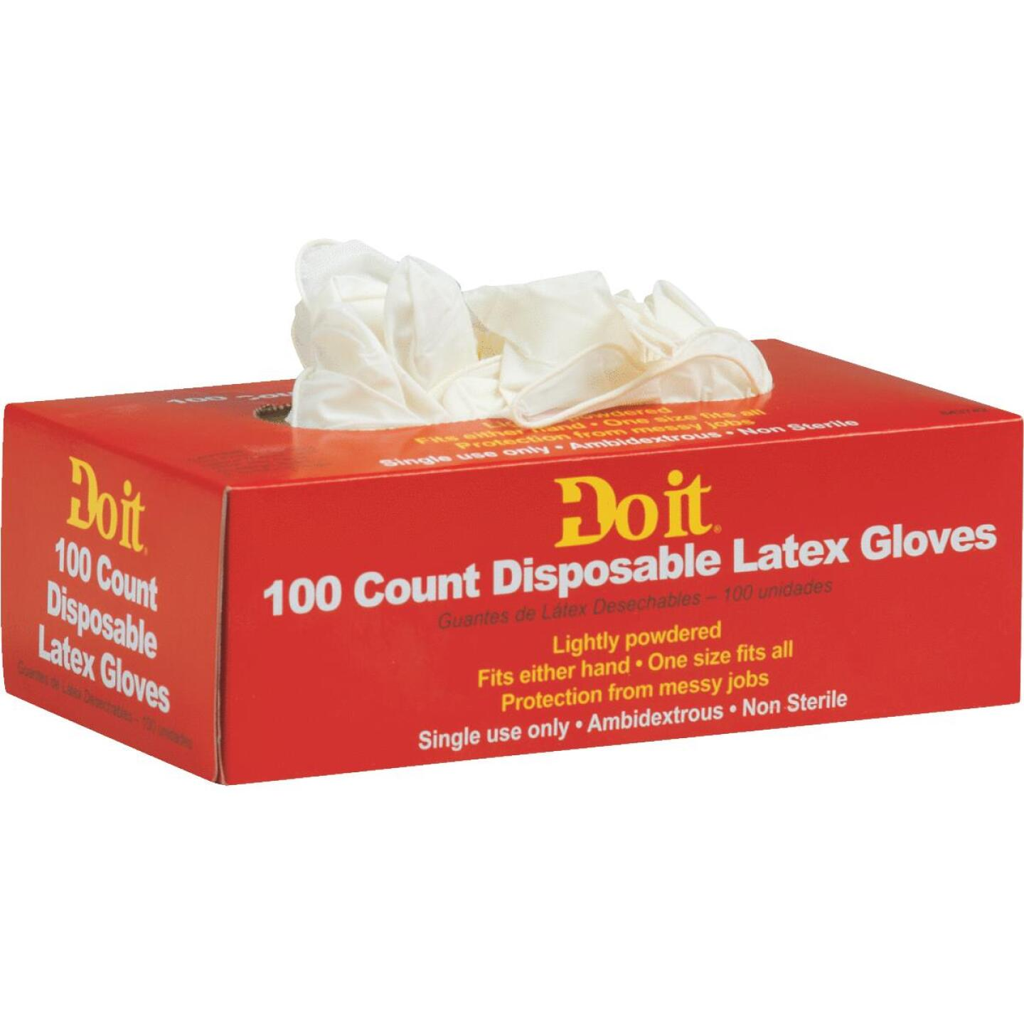 Do it 1 Size Fits All 1-Use Latex Disposable Glove (100-Pack) Image 1
