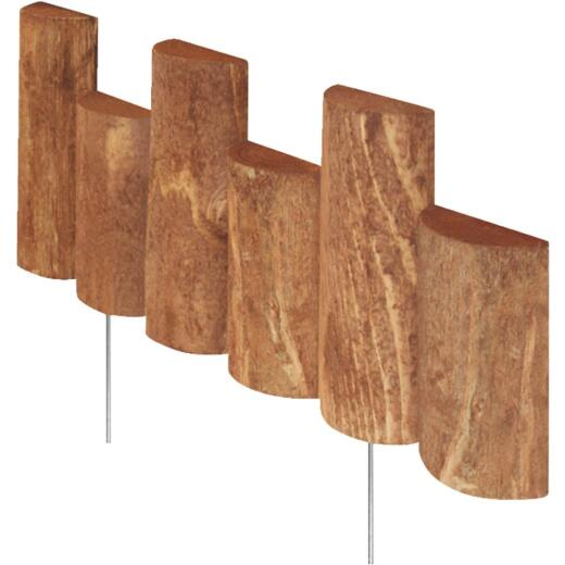 Greenes Fence 5 In. to 7 In. H. x 18 In. L. Cedar Flexible Half-Log Lawn Edging