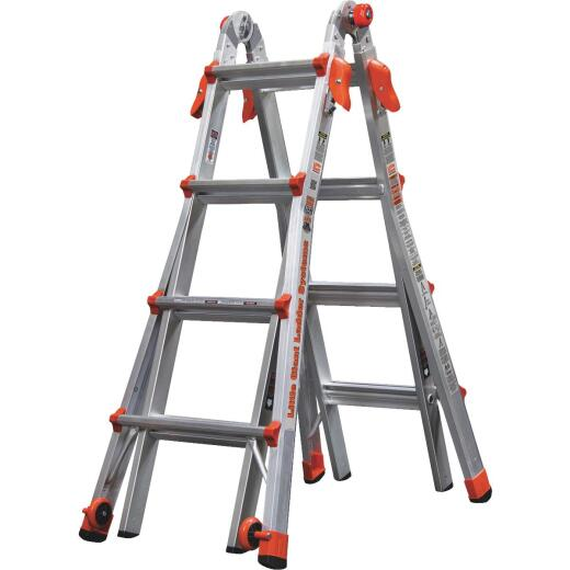 Little Giant Velocity 17 Ft. Aluminum Telescoping Ladder With 300 Lb. Load Capacity Type IA Duty Rating