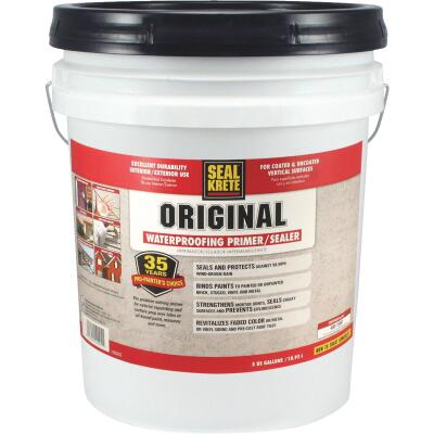 Seal-Krete Original Bond Sealer, Clear, 5 Gal.
