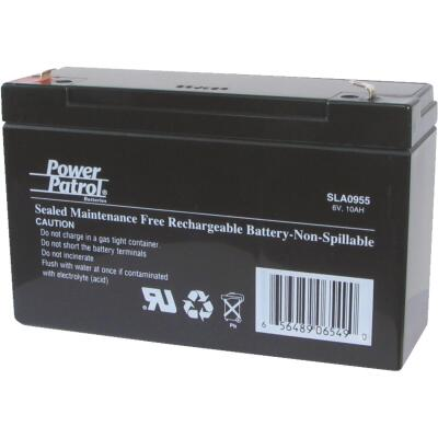 Interstate All Battery Power Patrol 6V 10A Security System Battery
