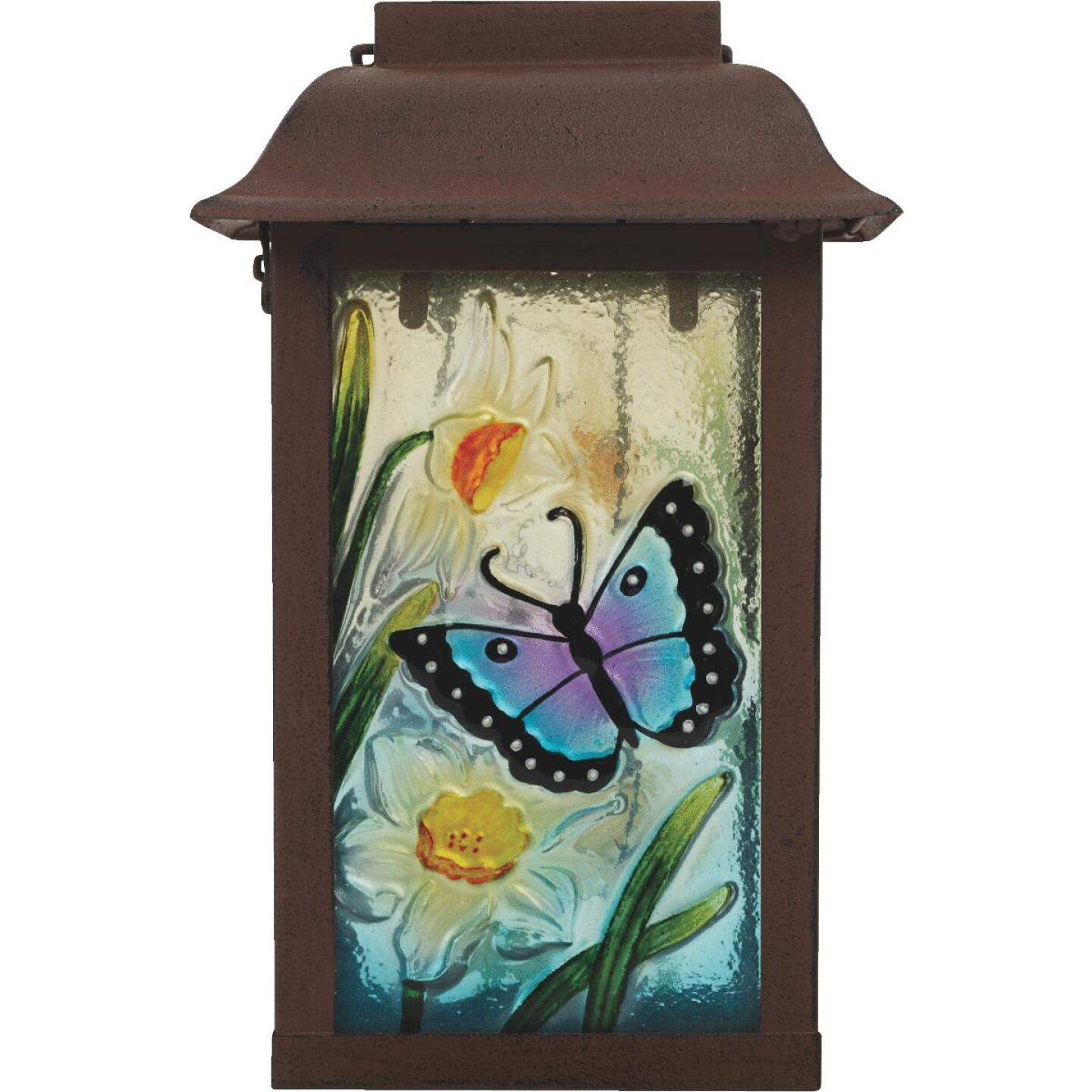 Outdoor Expressions 6 In. W. x 9.5 In. H. x 6 In. D. Solar Patio Latern Image 7