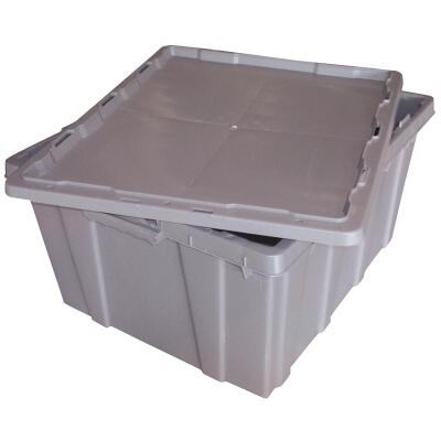 Normile 24 In. x 20 In. x 12 In. Gray Plastic Storage Tote